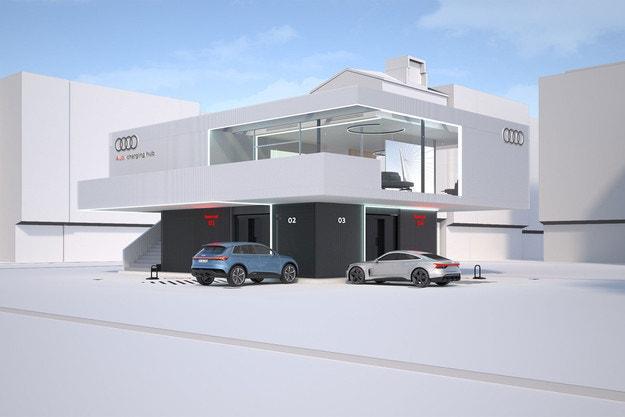 Audi развива мрежа от станции за бързо зареждане