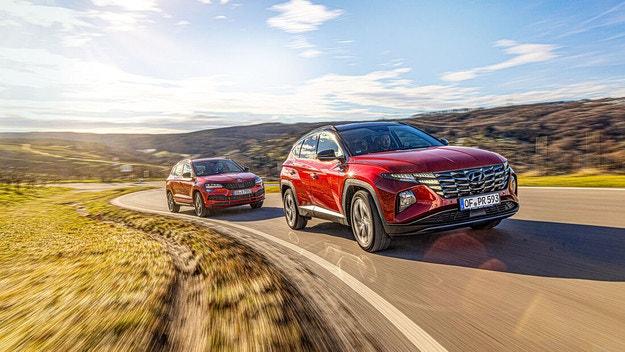 Hyundai Tucson срещу Skoda Karoq