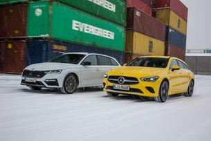 Mercedes CLA 250 e Shooting Brake срещу Skoda Octavia Combi RS iV