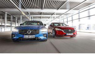 Mazda 6 G 194 и Volvo S60 B4