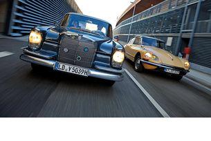 Citroën DS 21 и Mercedes 220 SE