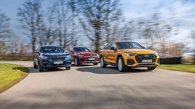 Audi SQ5 Sportback, BMW X4 M40d и Mercedes GLC 400 d Coupé