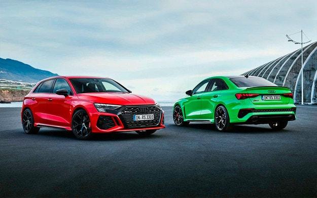Audi представи новите хечбек и седан RS3