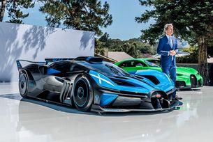 Bugatti Bolide гастролира на Пебъл Бийч