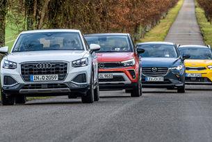 Audi Q2, Kia stonic, Mazda CX-3, Opel Crossland