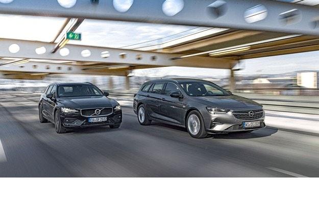 Opel Insignia Sports Tourer и Volvo V60