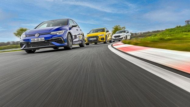 Audi S3 Sportback, BMW M135i, VW Golf R