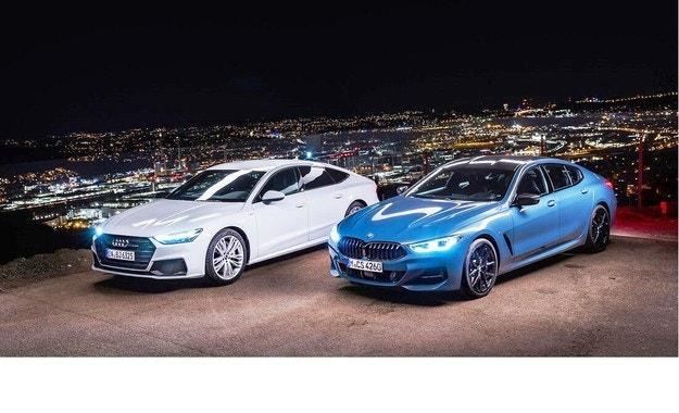 Audi A7 Sportback, BMW 8 Gran Coupé: Двама олимпийци