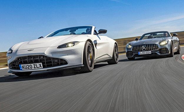 Aston Martin Vantage Roadster и AMG GT Roadster: Отнесени от вихъра