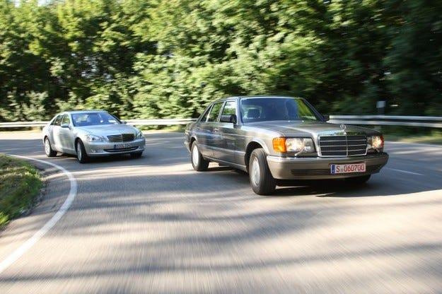 Mercedes 560 SEL срещу S 500