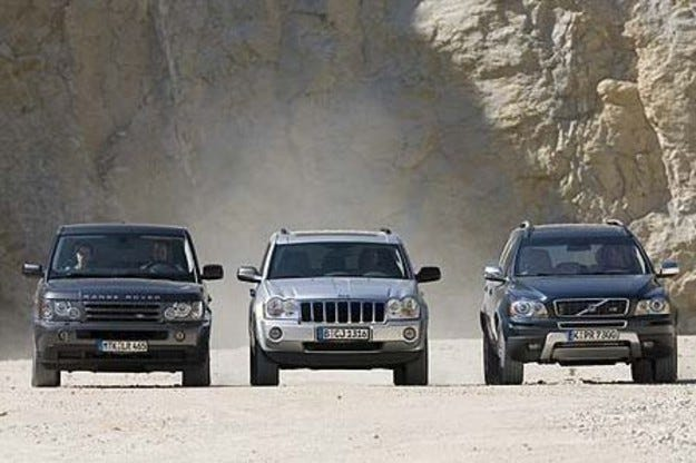 Range Rover sport vs. Jeep Grand Cherokee vs. Volvo XC90