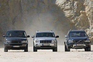 Range Rover sport vs. Jeep Grand Cherokee vs. Volvo XC90