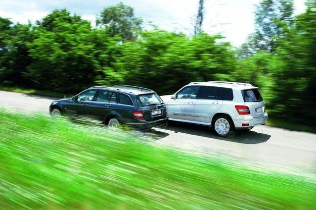 Mercedes GLK срещу Mercedes C-класа Т-модел