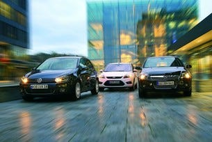 Ford Focus 2.0 TDCI, Opel Astra 1.9 CDTI, VW Golf 2.0 TDI