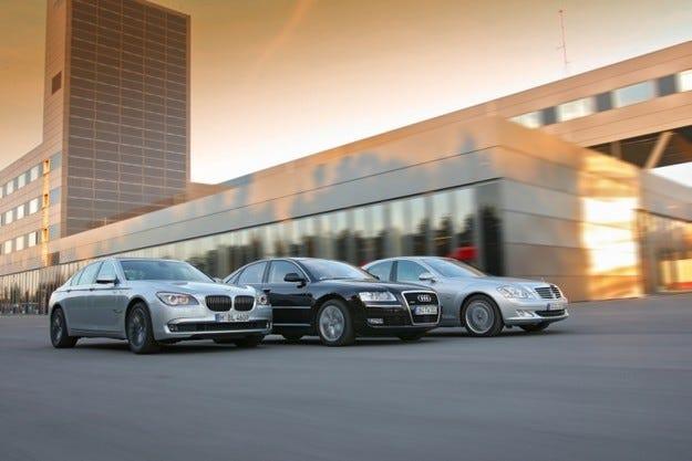 Audi А8 3.0 TDI, BMW 730D, Mercedes S 320 CDI
