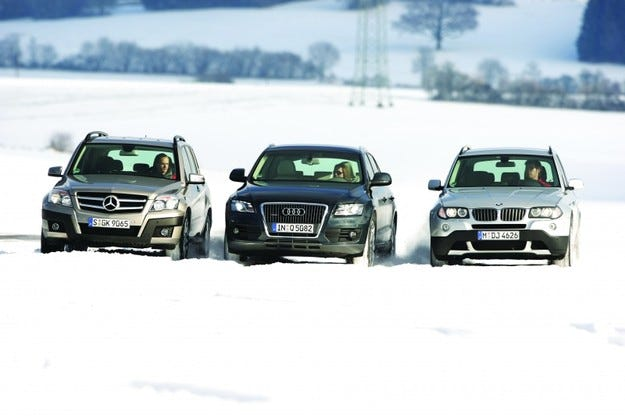 Audi Q5, Mercedes GLK, BMW X3