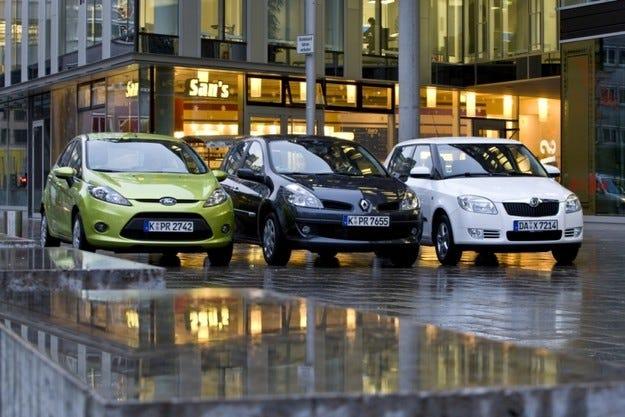 Ford Fiesta, Renault Clio, Skoda Fabia