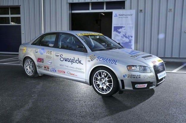 Световен рекорд от Audi A4 на биогаз