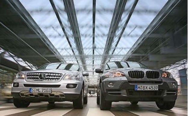 BMW X5 срещу Mercedes ML 320 CDI