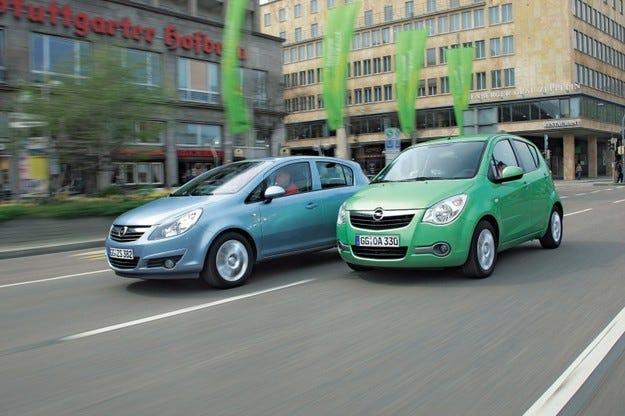 Opel Agila срещу Opel Corsa