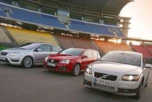 Golf GTI, Focus ST и Volvo C30 T5