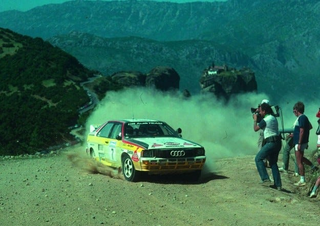 30 г. Audi Quattro