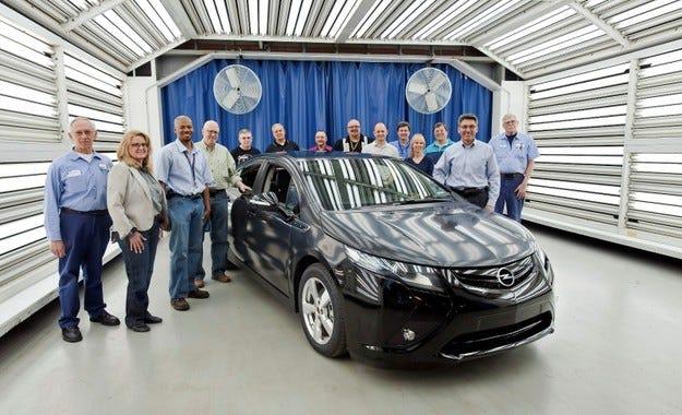 Opel Ampera производство