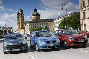 Renault Clio vs. Peugeot 207 vs. VW Polo