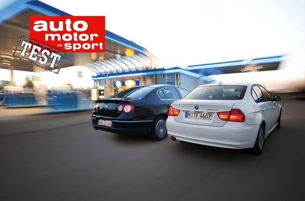 BMW 320 Edition срещу VW Passat Blue TDI