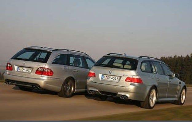 BMW M5 Touring срещу Mercedes E 63 T AMG
