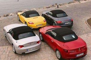 Alfa Spider, Audi TT, BMW Z4 и Porsche Boxster