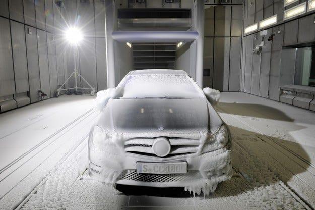 Mercedes аеродинамични тунели