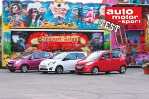 Hyundai i10, Renault Twingo и Suzuki Alto
