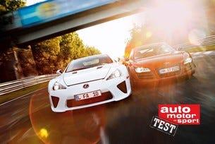 Audi R8 GT срещу Lexus LFA