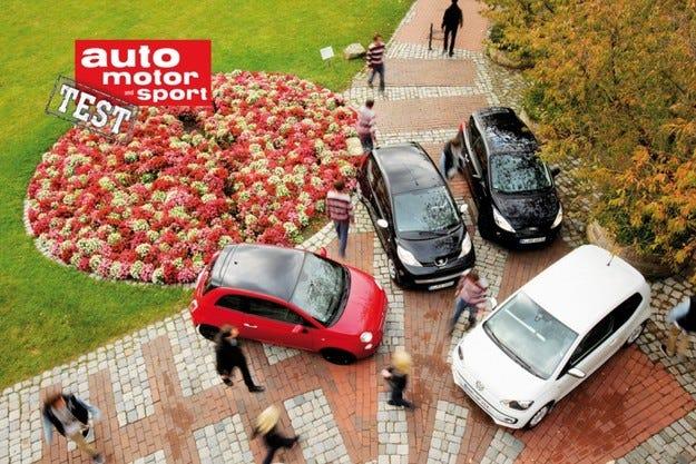 Fiat 500, Ford Ka, Peigeot 107 и VW up!