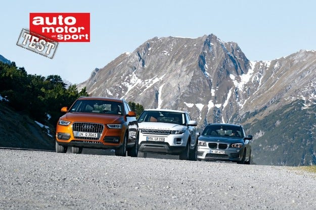 Audi Q3, BMW X1 и Range Rover Evoque
