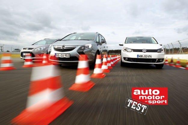 Opel Zafira Tourer, VW Touran и Ford Grand C-Max