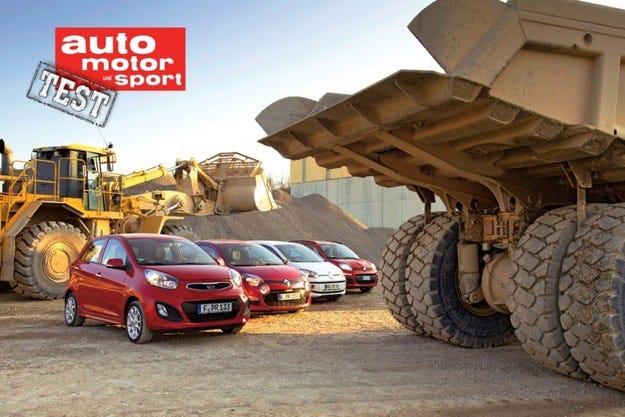 Fiat Panda, Kia Picanto, Renault Twingo и VW up!