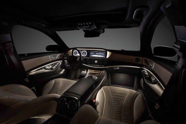 Интериорът на новата S-класа на Mercedes