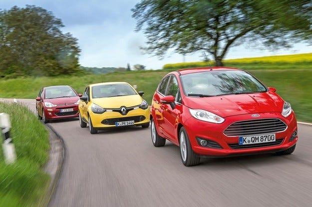 Citroen C3, Ford Fiesta, Renault Clio