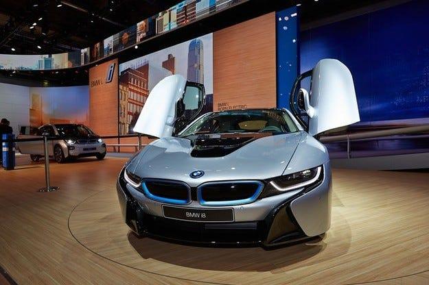 BMW i8 на изложението IAA