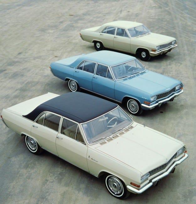 Голямата тройка на Opel: 50 години Kapitän, Admiral и Diplomat
