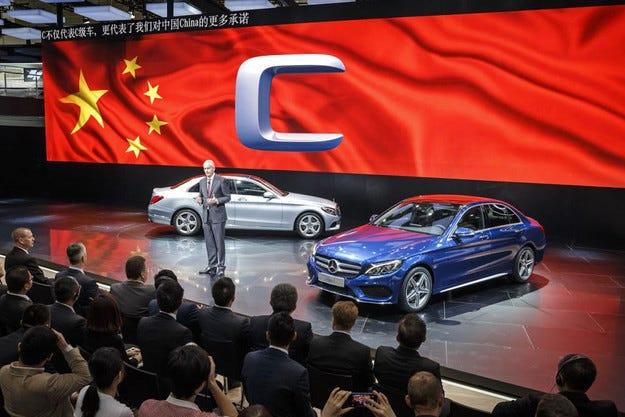 Mercedes-Benz C-класата с дълга версия в Пекин