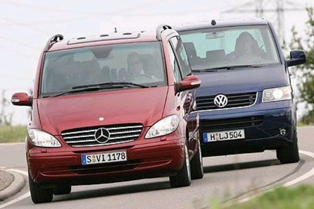 Mercedes Viano vs. VW Multivan