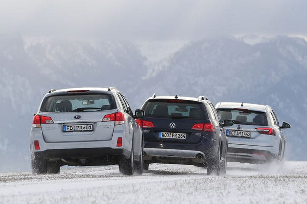 Opel Insignia Country Tourer, Subaru Outback, VW Passat Alltrack