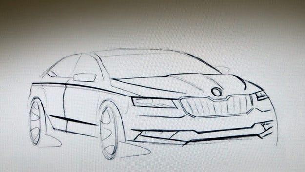 В мрежата се появи първа скица на новата Skoda Superb