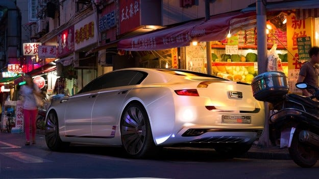 Qoros 9 Sedan Concept е дело на южнокорейски студент