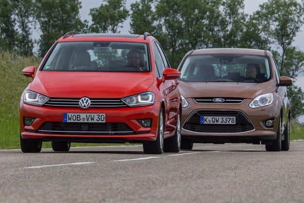 Ford C-Max и VW Golf Sportsvan: Компактни герои на делника