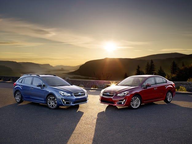 Фамилията Subaru Impreza с леки козметични промени