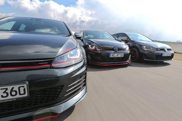Три тунинг версии на VW Golf GTI